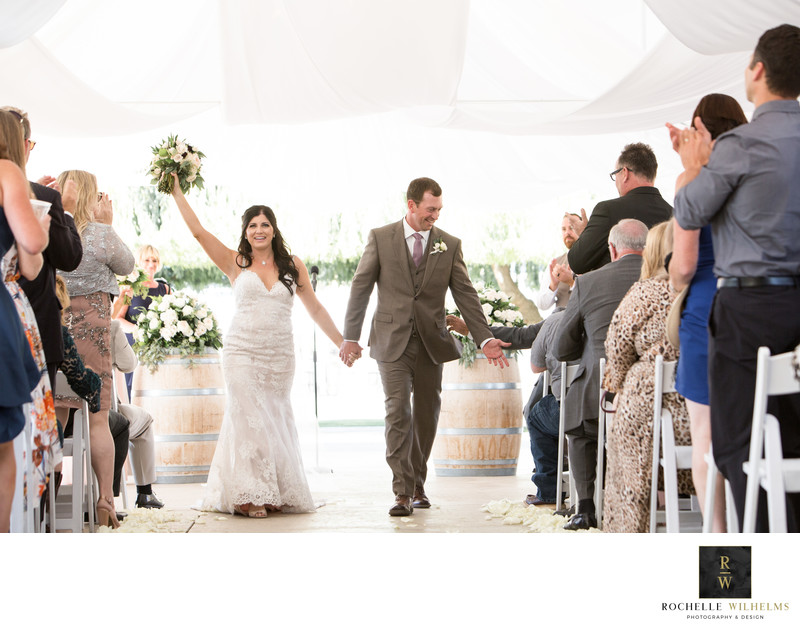 Outdoor Vineyard Wedding Hollister