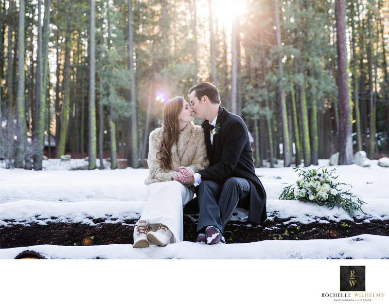 Best Winter Wedding Photography Tahoe Area