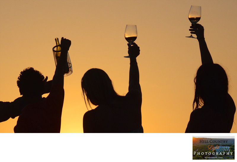 Toast at sunset Lewis Wines Texas Wine photograph