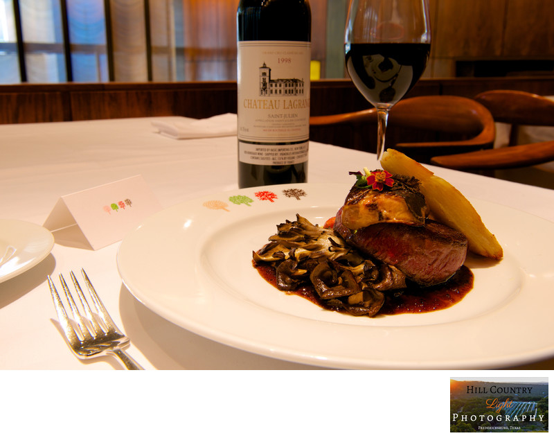 Chateau Lagrange wine paired with tenderloin mushrooms