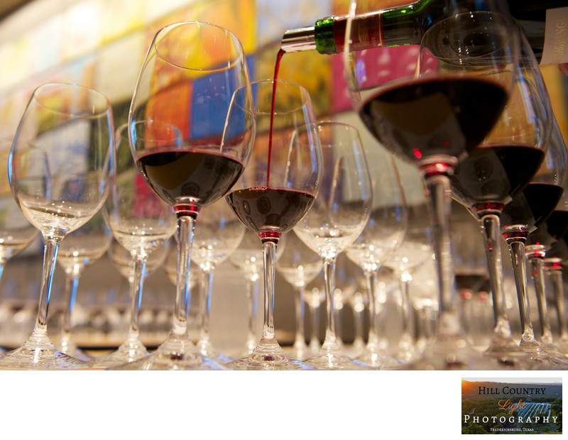 Wine poured in the banquet room Four Seasons Restaurant Manhattan