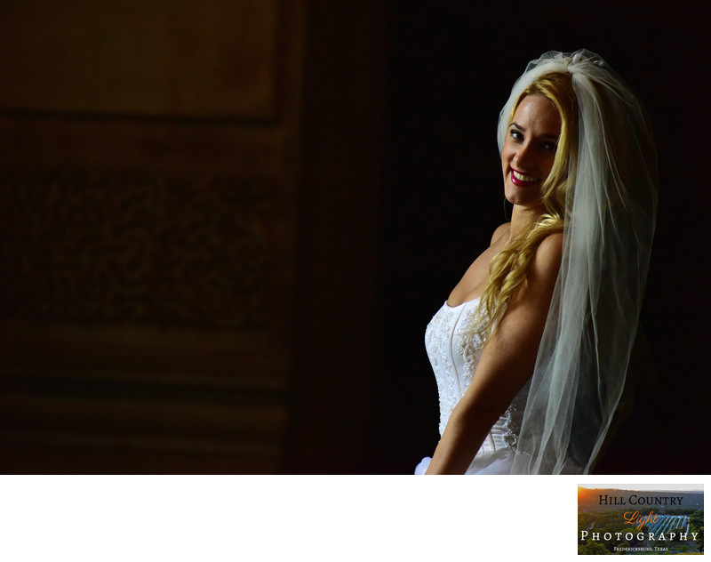 bridal portrait beautiful blonde veil amazing light