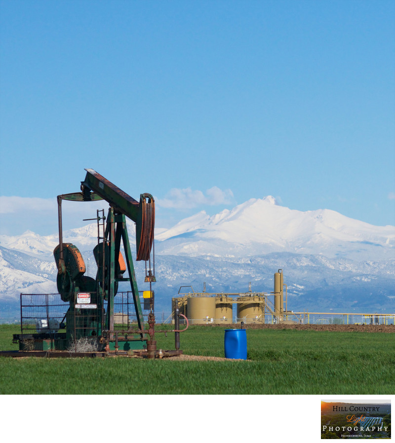 Pump Jack on the Colorado Front Range Rocky Mountains