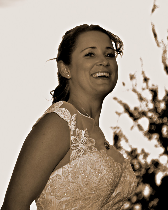 Happy Bride candid portrait Happy H Ranch Comfort TX