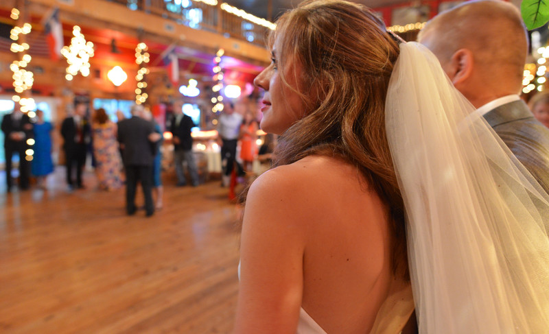 Bride watches oldest married couple at Boerne dance hall