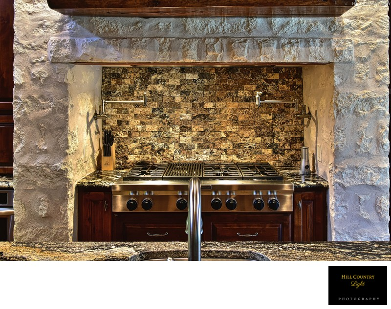 Stone, tile, granite chef's kitchen
