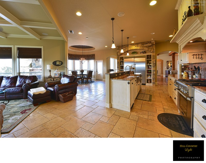 Open Flooring brings kitchen family and dining together