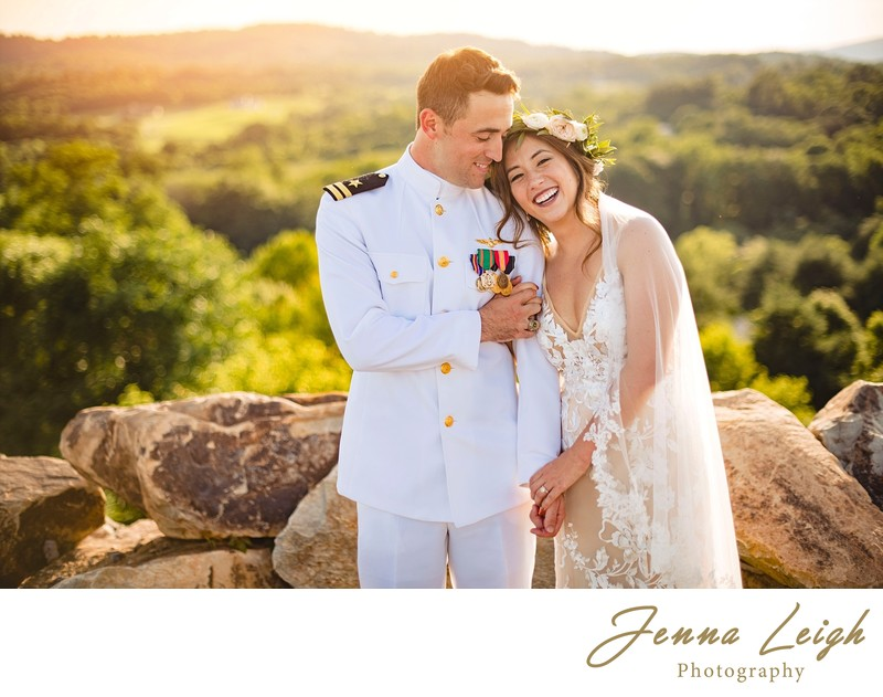 Blue Valley Vineyard Wedding Couple