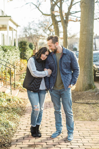 Engagement session in Old Town, Alexandria, Virginia