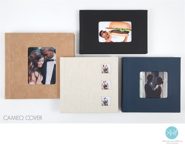 Cameo Wedding Album Covers