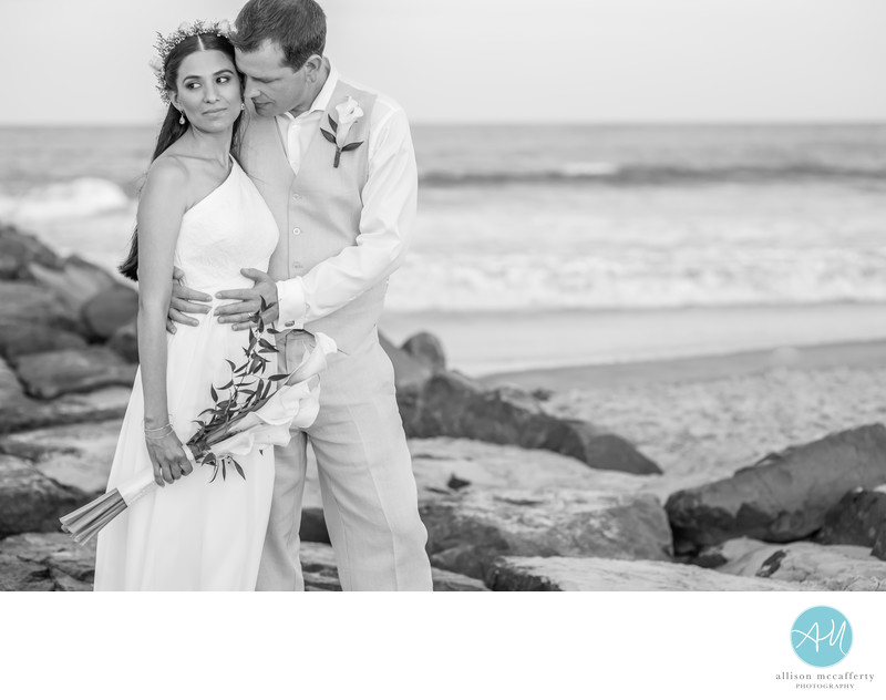 Ocean city nj beach wedding photographer