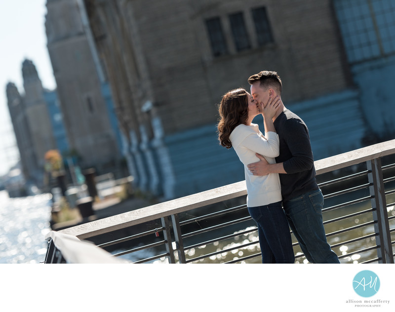 Race Street Pier Engagement Photos