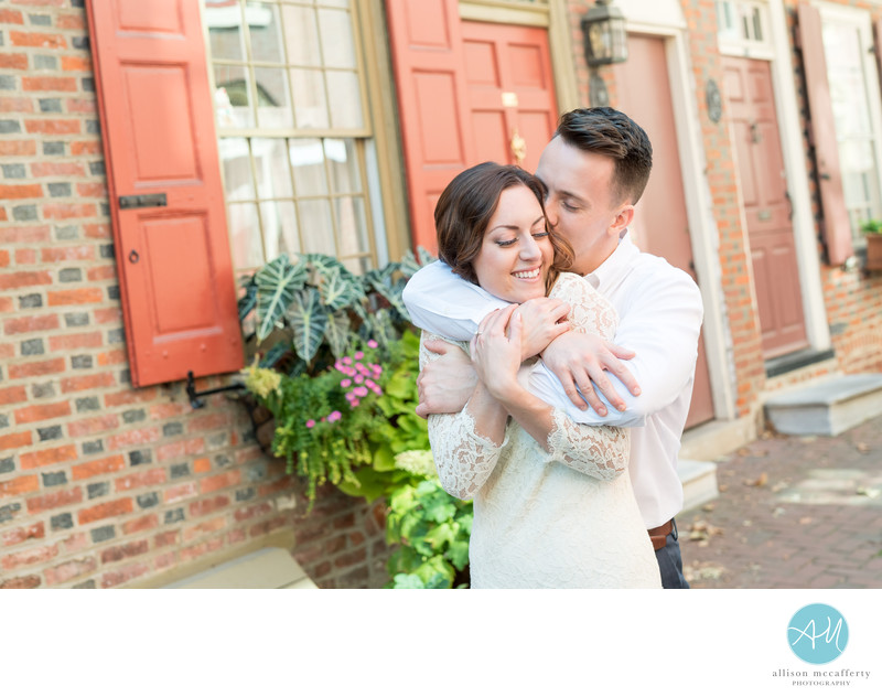 Elfreth's Alley Engagement Photos
