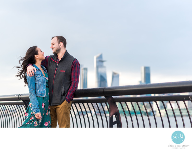 Pier A Hoboken Engagement Photos