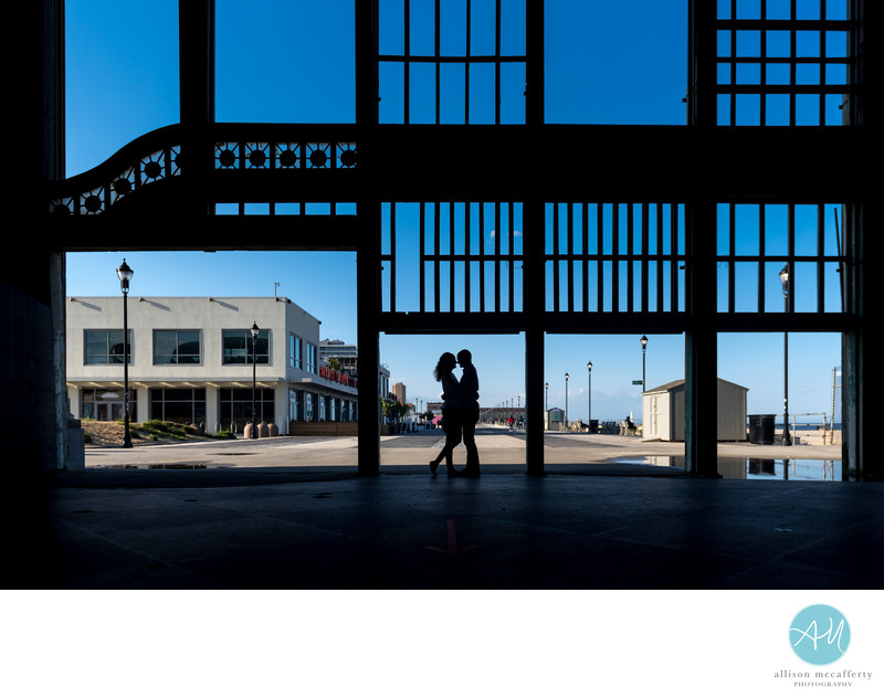 Asbury Park Casino Engagement Photo