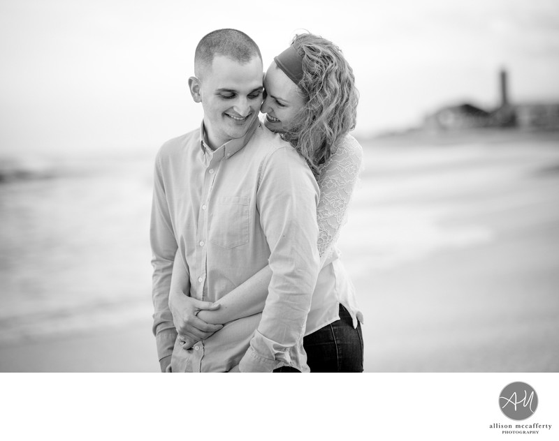 Asbury Park Beach Engagement Photos