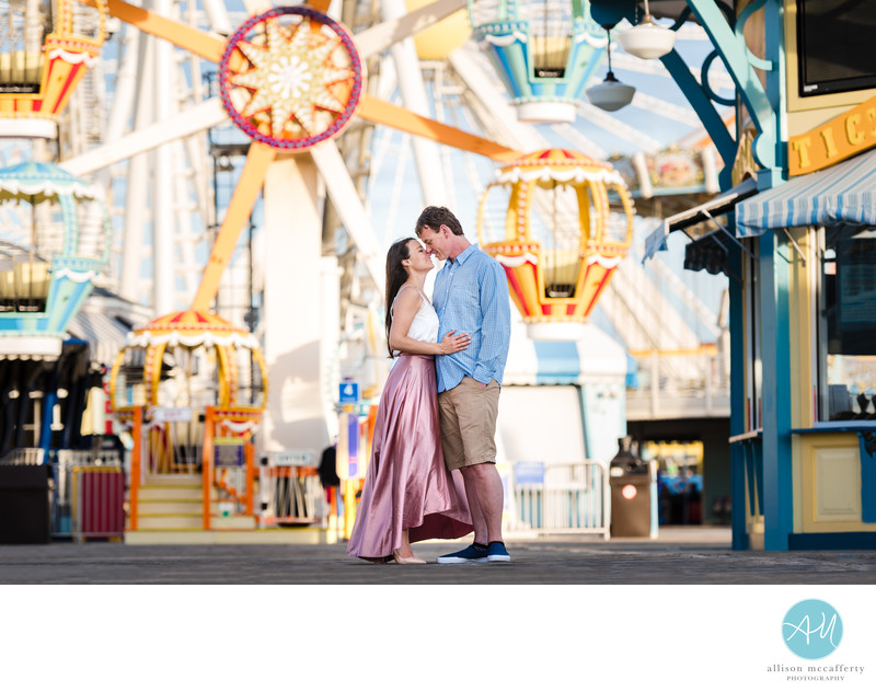 Morey's Pier Engagement Photo