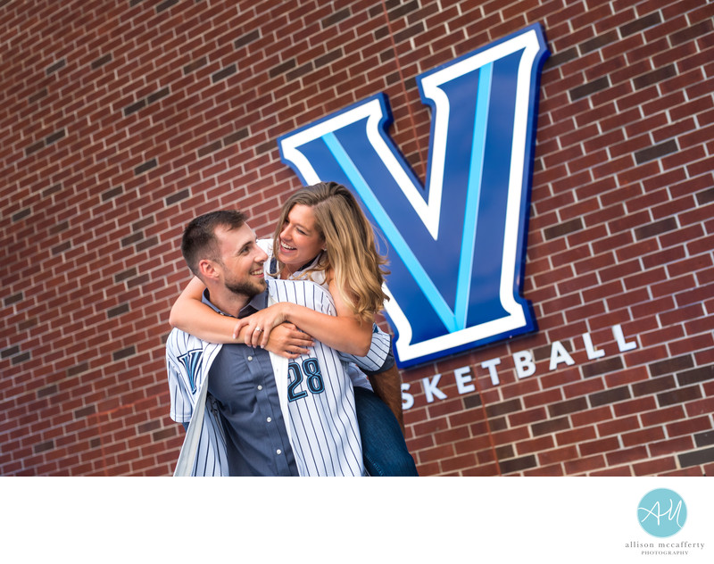Engagement Photos at Villanova University
