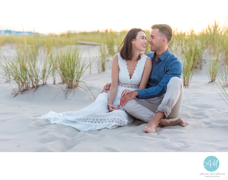 Long Beach Island Beach Engagement Photos