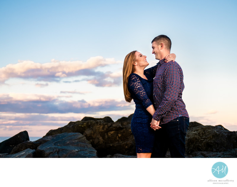 Asbury Park Beach Engagement Photographer