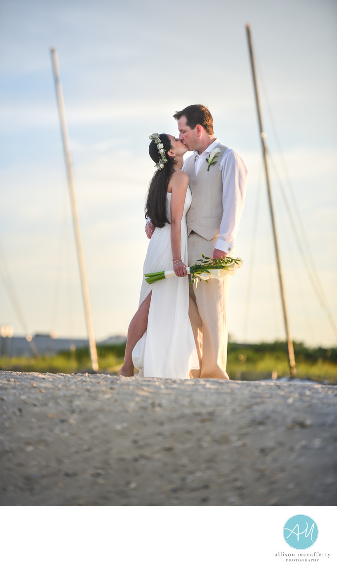 Ocean City Beach Wedding Photos