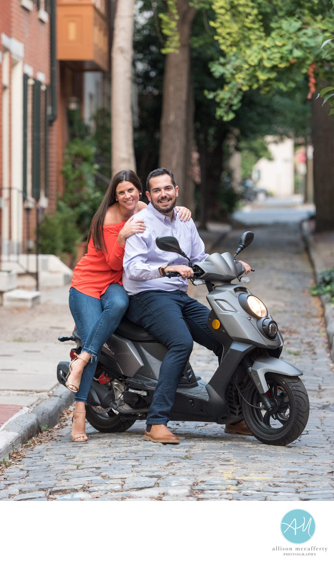 Scooter Engagement Photos Philadelphia