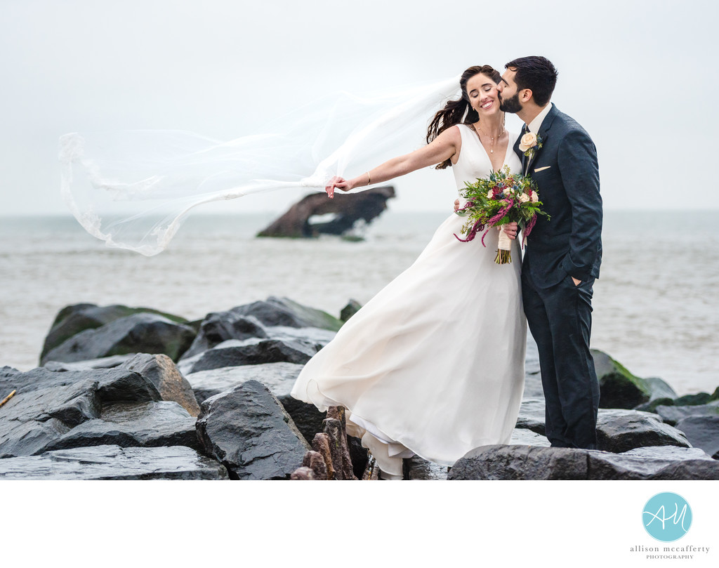Wedding Photos on Sunset Beach Cape May NJ