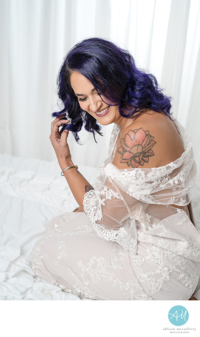 Fun boudoir photographer in NJ