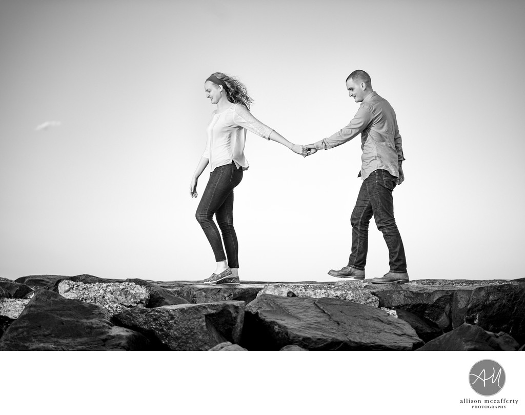 Asbury Park NJ Beach Engagement Session
