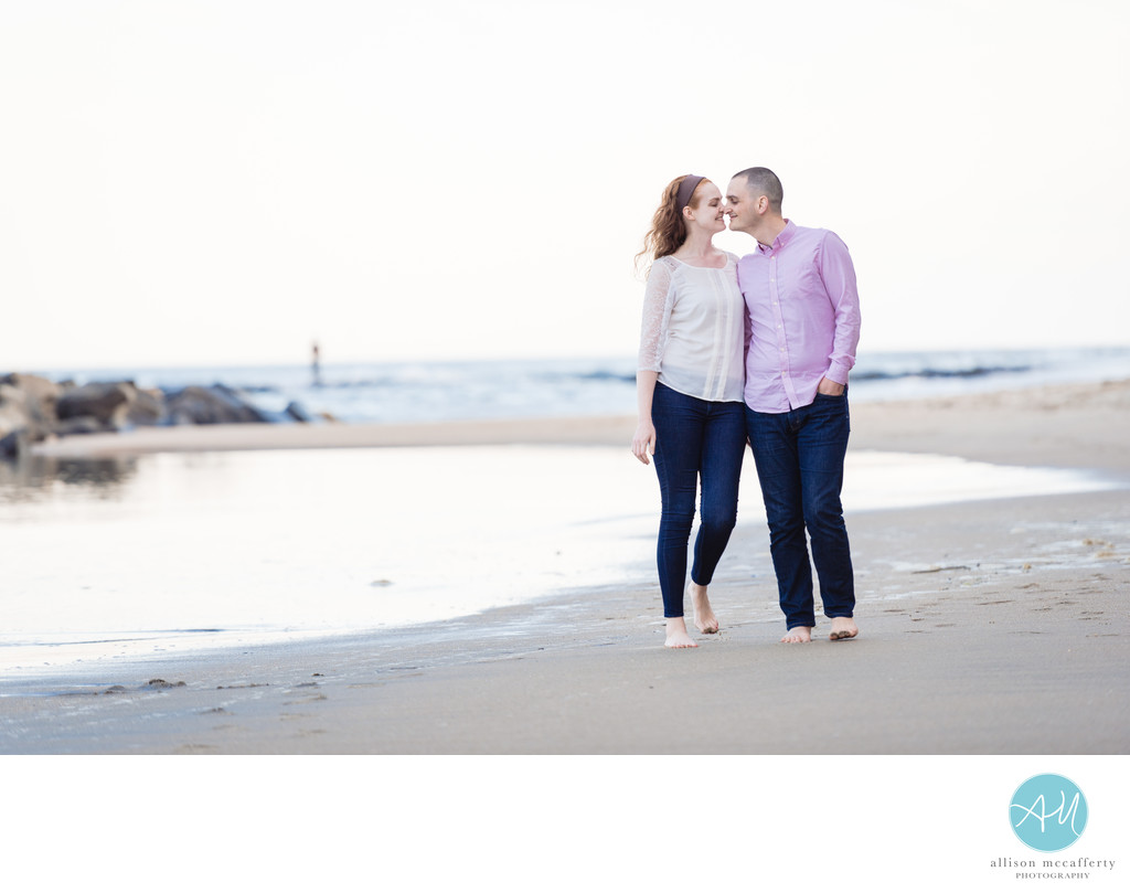 Asbury Park NJ Beach Engagement Photo