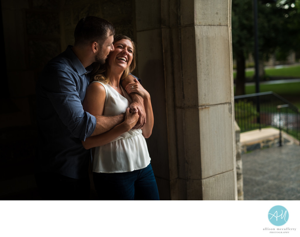 Villanova University Engagement Photos