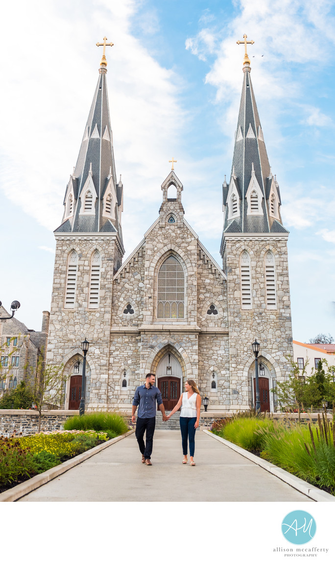 Villanova University Engagement Photographer
