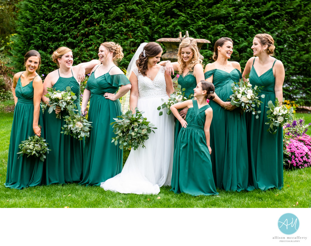 Bridal Party Photos at the Bradford Estate
