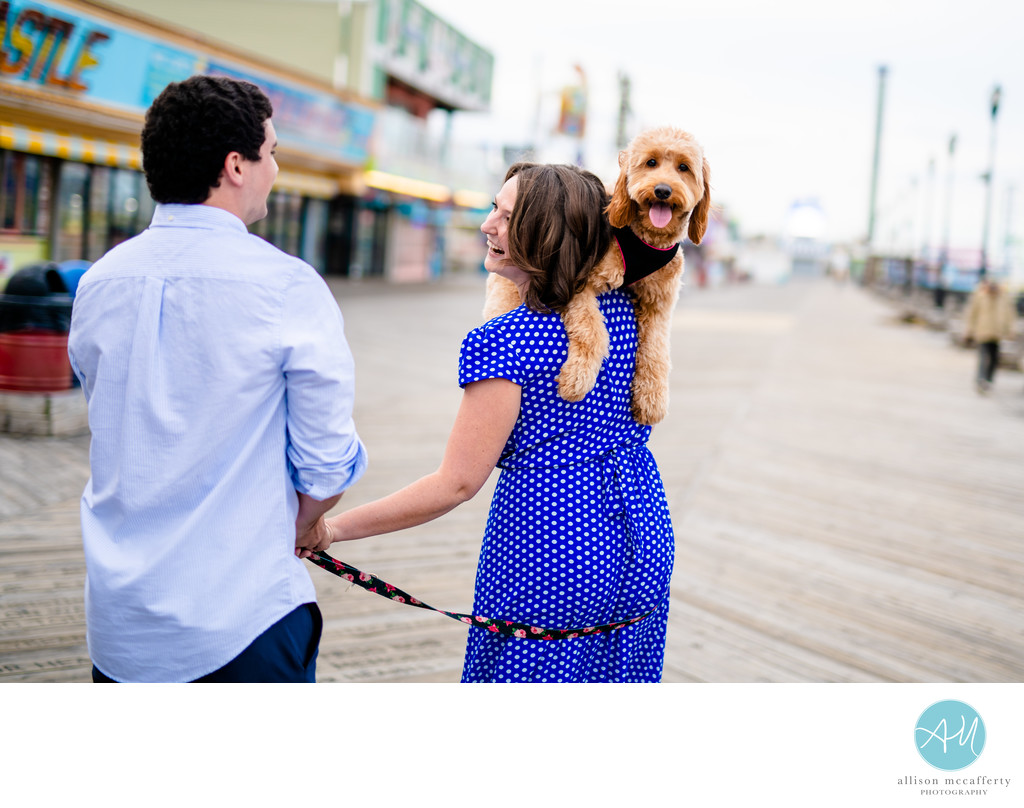 Seaside Heights Boardwalk Engagement Session