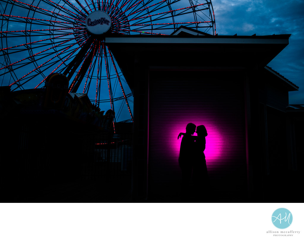 Seaside Heights Boardwalk Engagement Photos