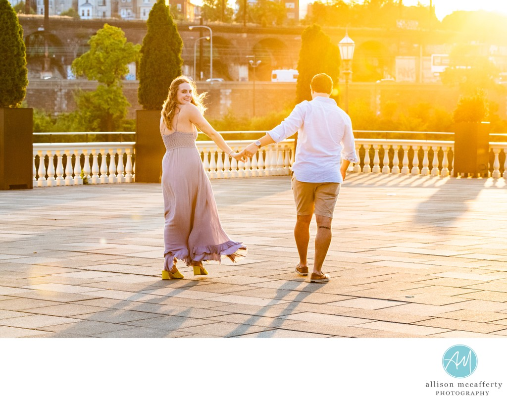 Fairmont Water Works Engagement Session