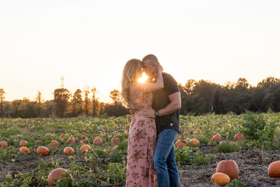 Romantic Sunset Engagement Photos NJ