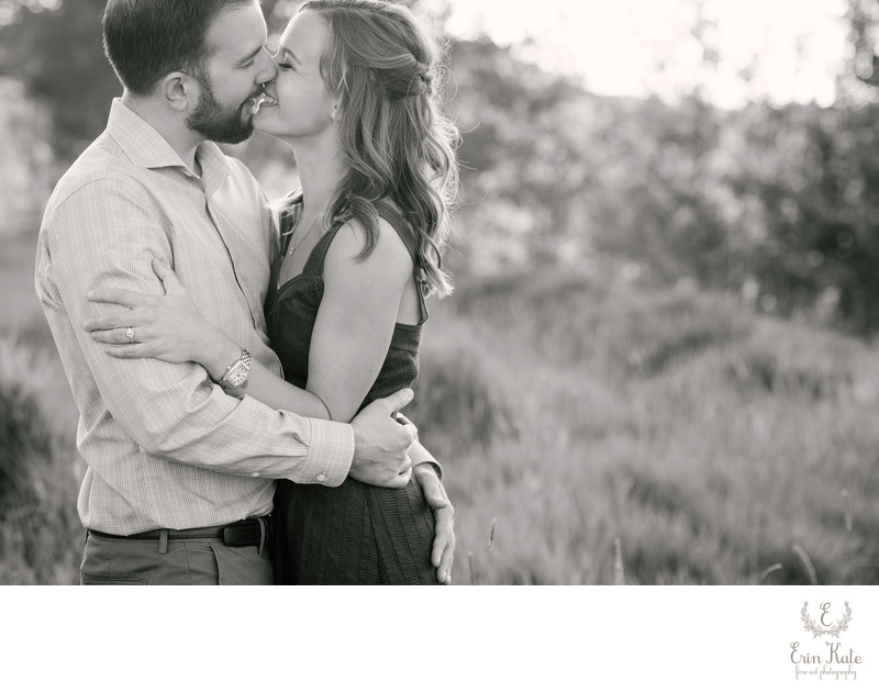 Black and White Photo of a McPolin Barn Engagement
