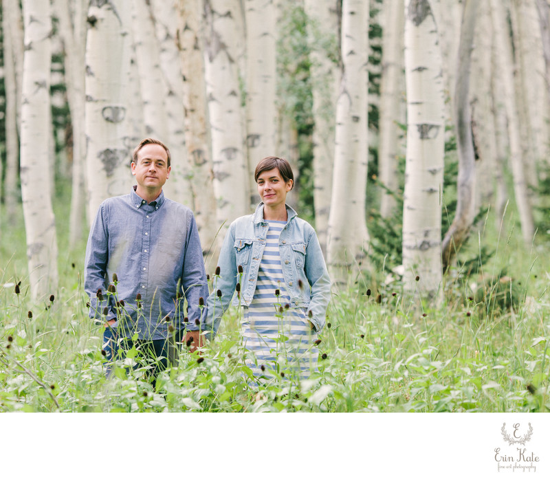 Engagement Session in  Aspen Trees