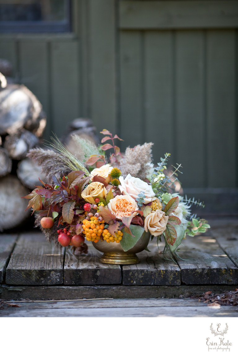Fall Floral Wedding Centerpiece