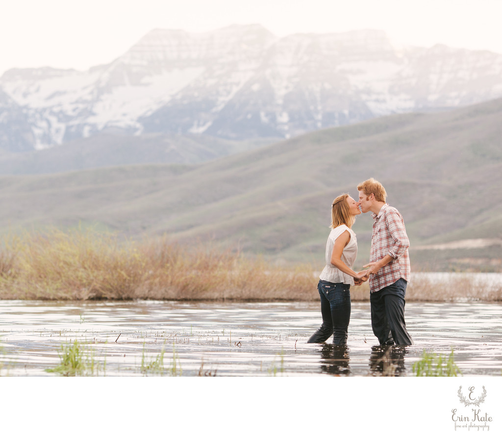 Romantic Deer Creek Reservoir Engagement Session