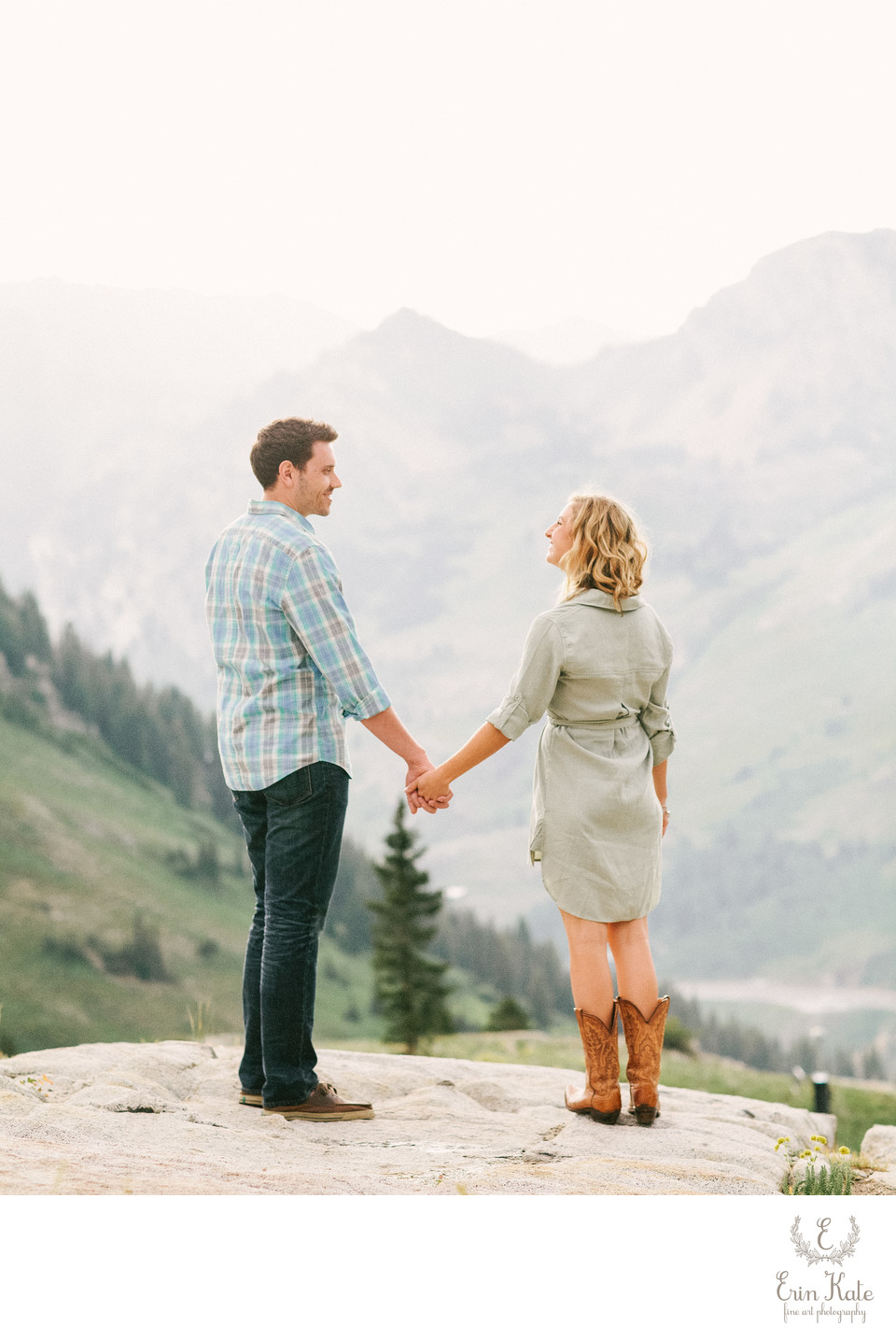 Albion Basin Engagement Session in July