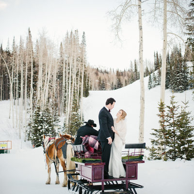 private winter wedding deer valley utah