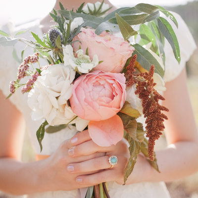 Wild Organic Flower Girl Bouquet
