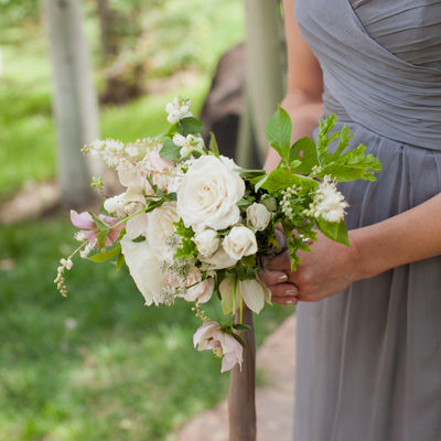 Pastel bridesmaids bouquet by Tinge Floral