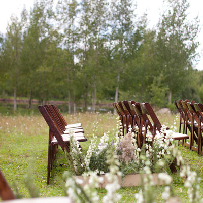 wild flowers ceremony aisle