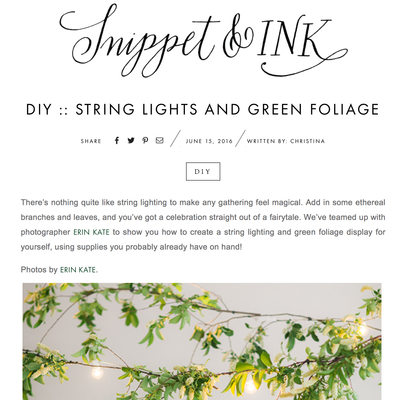 DIY Greenery Lights