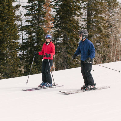 Park City Mountain Resort Skiing Engagement Session