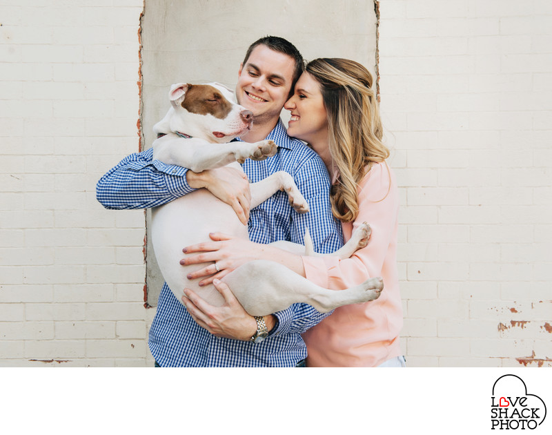 Philadelphia Engagement Session with Dog