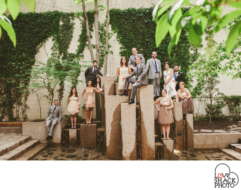 Fun Philadelphia Wedding Photo